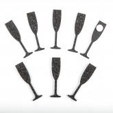 Flûtes sticker noires (x12)