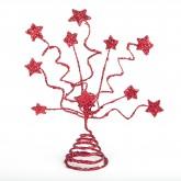 Centre de table d'étoiles pailletées rouge