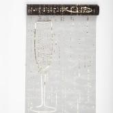 Chemin de table noir flutes de champagne
