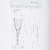 Chemin de table blanc argent flûtes de champagne