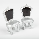 Marque place Chaise argent (x2)