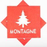 Serviettes Sapin et Montagne rouges (x20)