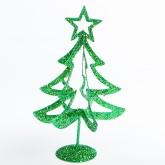 Sapin décoratif de table pailleté vert