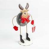 Petit Renne rigolo de Noël en métal