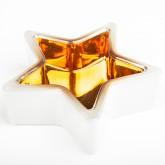 Bougeoir étoile blanc / cuivre
