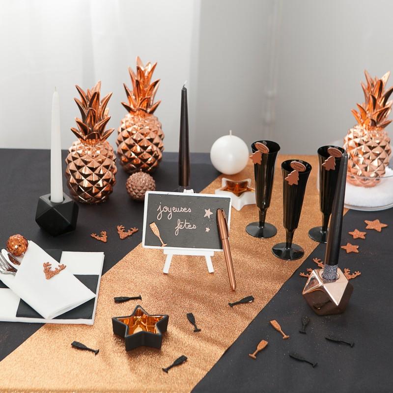 bougeoir toile noir cuivre. Black Bedroom Furniture Sets. Home Design Ideas