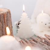 Bougie sapin de Noël blanche