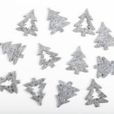Sachet sapin feutrine gris (x12)