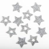 Sachet étoile feutrine gris (x12)