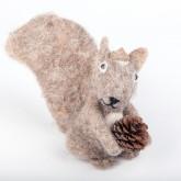 Ecureuil en feutrine taupe