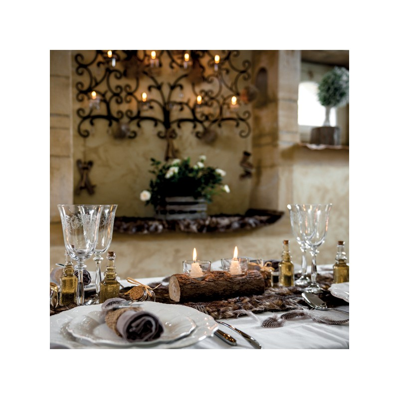 Chemin de table fausse fourrure taupe for Chemin de table taupe