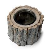 Centre de table bougeoir rondin bois