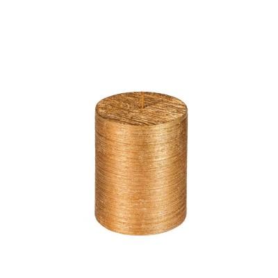 Bougie cylindre cuivre métal