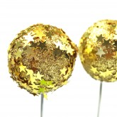 Boule pic étoiles dorées (x3)