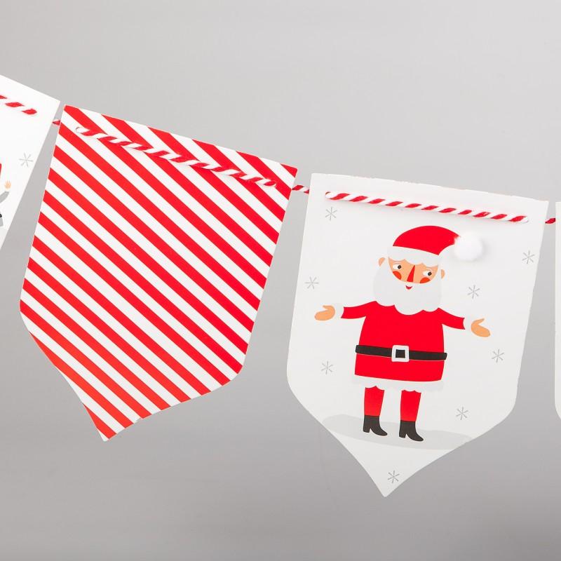 Grande guirlande avec fanions de Noël - MaPlusBelleDeco.com