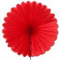 Eventail décoratif (x2) rouge