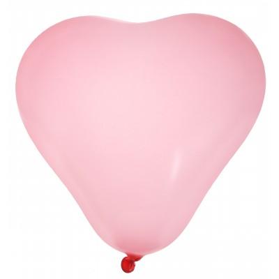 Ballons en forme de coeur (x8) rose