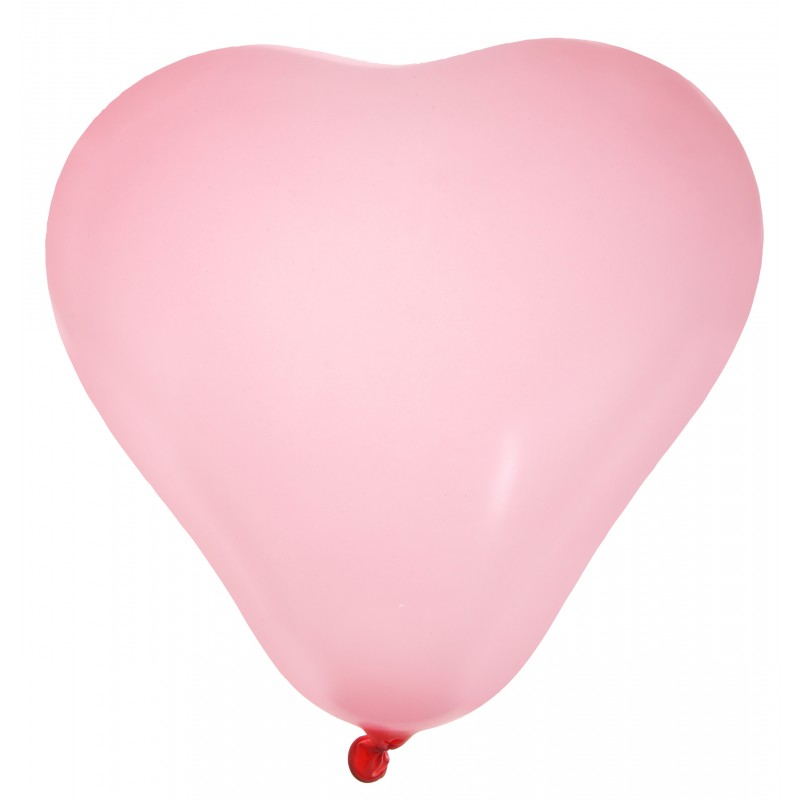 ballons en forme de coeur x8 rose. Black Bedroom Furniture Sets. Home Design Ideas