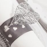 Pics coeurs en fil d'alu (x5) argent
