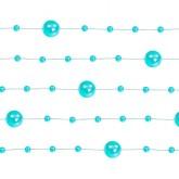 Guirlandes de perles nacrées (x5) bleues