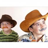 Moustaches autocollantes type (x6)