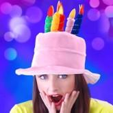Chapeau d'anniversaire rose