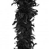 Boa en plumes noir