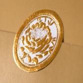 Adhésifs roses métallisées (x25) or