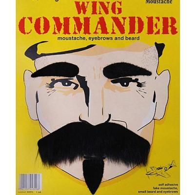 Kit moustache, sourcils et barbe noir