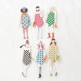 """Serviettes cocktail et leurs poupées collection """"New-York"""" (x6)"""