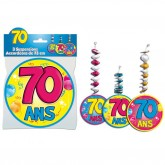 Suspensions accordéons 70 ans (x3)