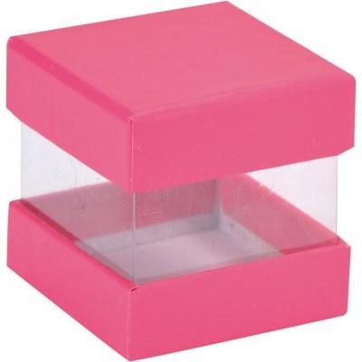 Mini boîtes cubes x6 fuchsia