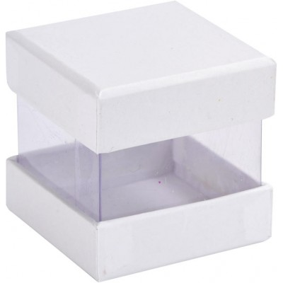 Mini boîtes cubes x6 blanc