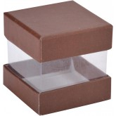 Mini boîtes cubes (x6) chocolat