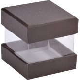 Mini boîtes cubes x6 noir
