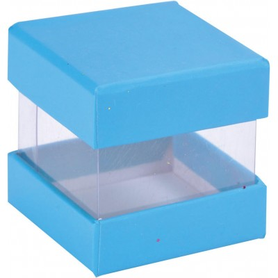 Mini boîtes cubes x6 turquoise