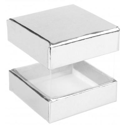 Mini boîtes cubes x6 argent
