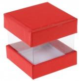 Mini boîtes cubes x6 rouges