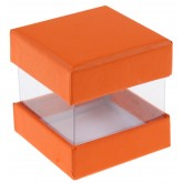 Mini boîtes cubes x6 orange