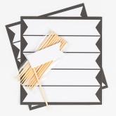 Petits drapeaux et pics adhésifs (x11) blanc