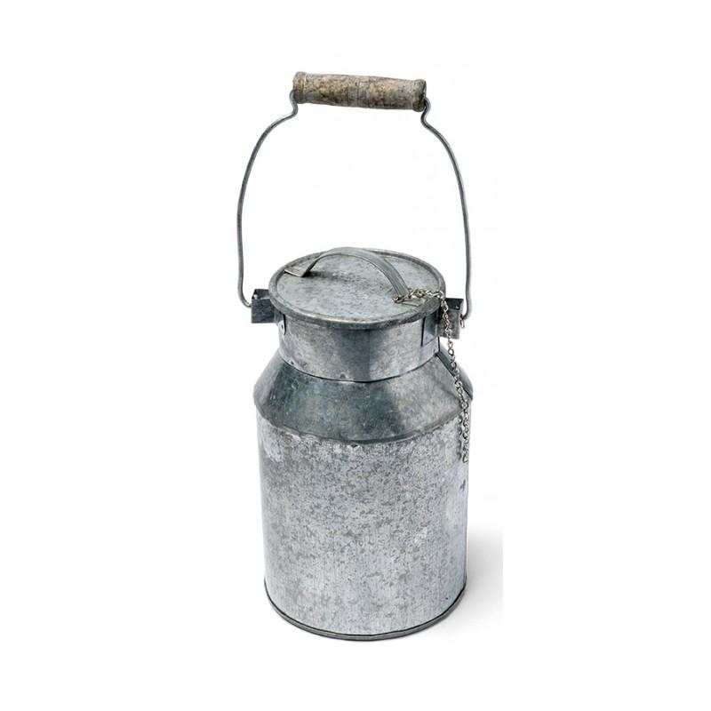 grand pot 224 lait en zinc hauteur 16cm maplusbelledeco