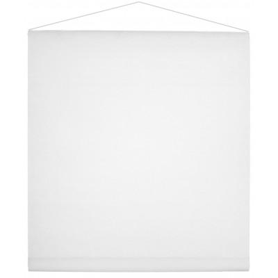 Tenture de salle en non tissé blanche