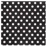 Serviettes à pois (x20) noir / blanc