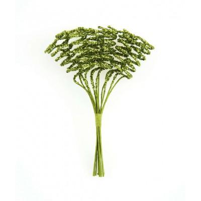 Tourbillons pailletés (x24) vert anis