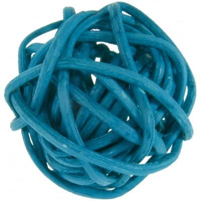 Mini boules en rotin (x12) turquoise