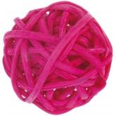 Mini boules en rotin (x12) fuchsia