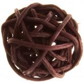 Mini boules en rotin chocolat (x12)