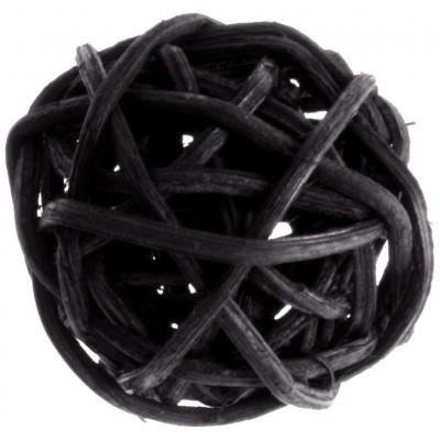 Mini boules en rotin (x12) noir