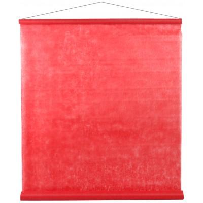 Tenture de salle en non tissé rouge