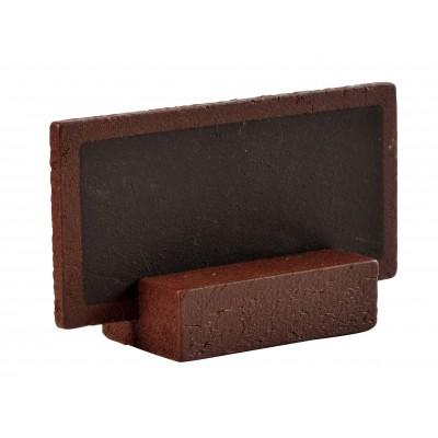 Petites ardoises sur socle (x6) chocolat